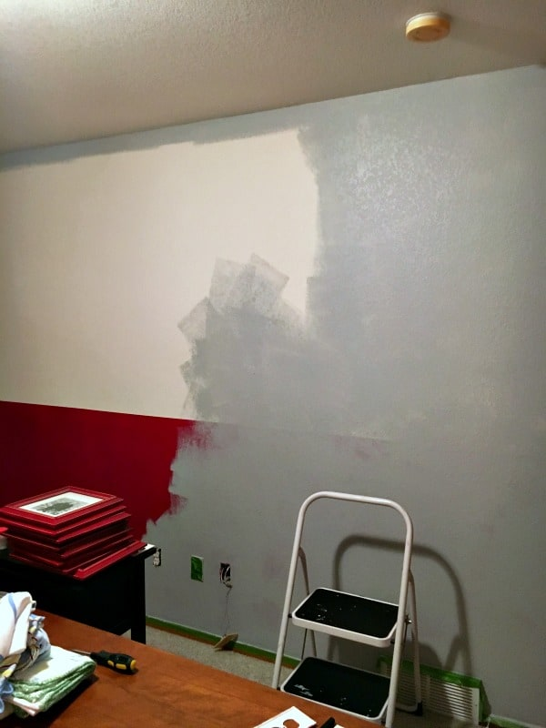 painted bedroom with lazy gray paint