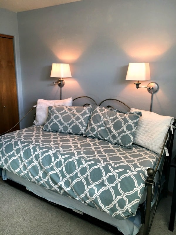 Guest Bedroom/Office Makeover: Curtains and Sconces