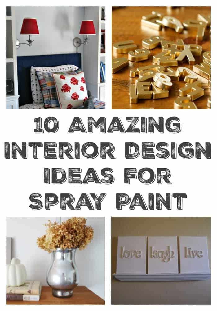 Check out 10 amazing interior design ideas for spray paint. You'll never look at spray paint the same!