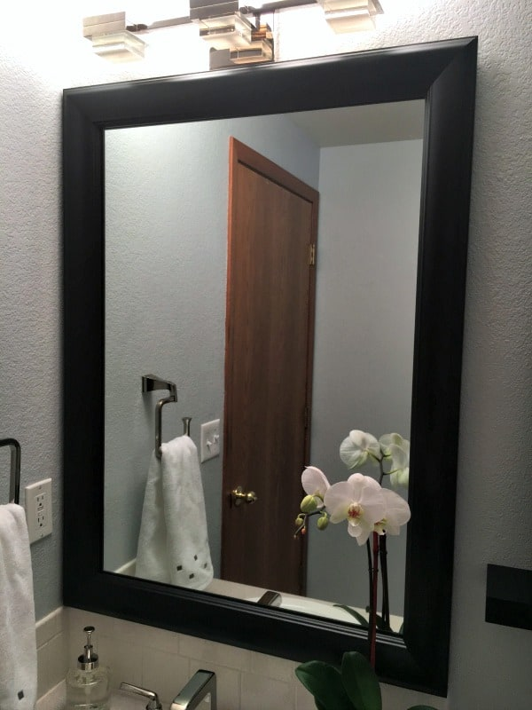 Fabulous way to give a builder grade mirror a new look with MirrorMate