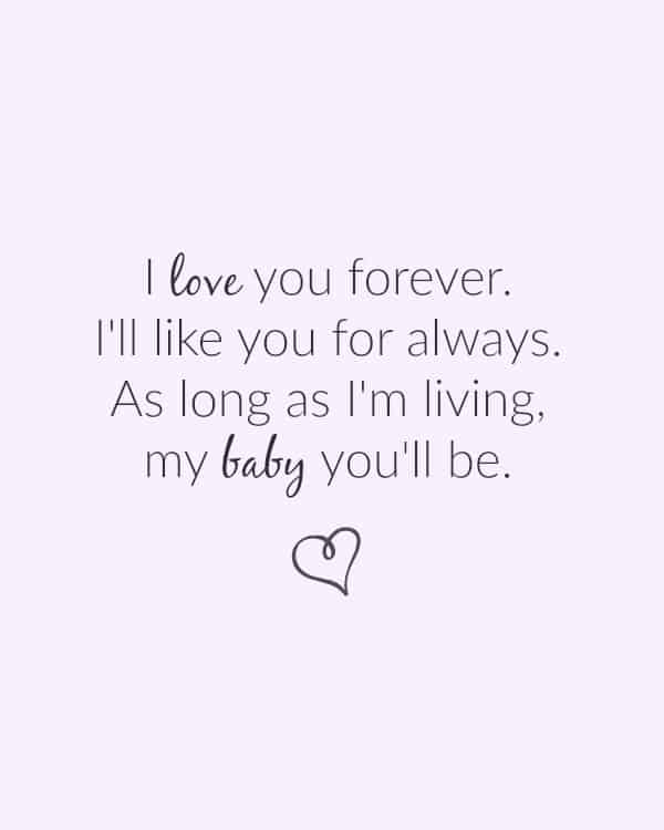 I love you forever Ill like you for always - FREE printables any mom would love!