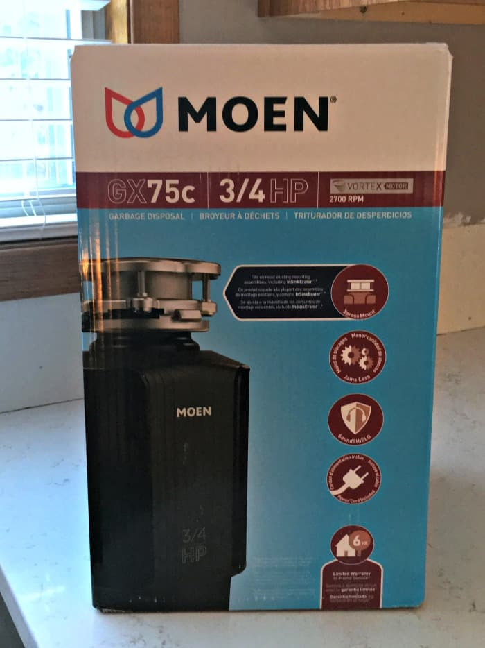 My kitchen was just updated with a new Moen GX75c garbage disposal!