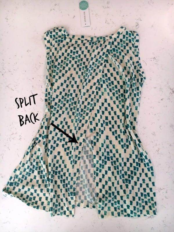 stitch fix tank shirt - split back