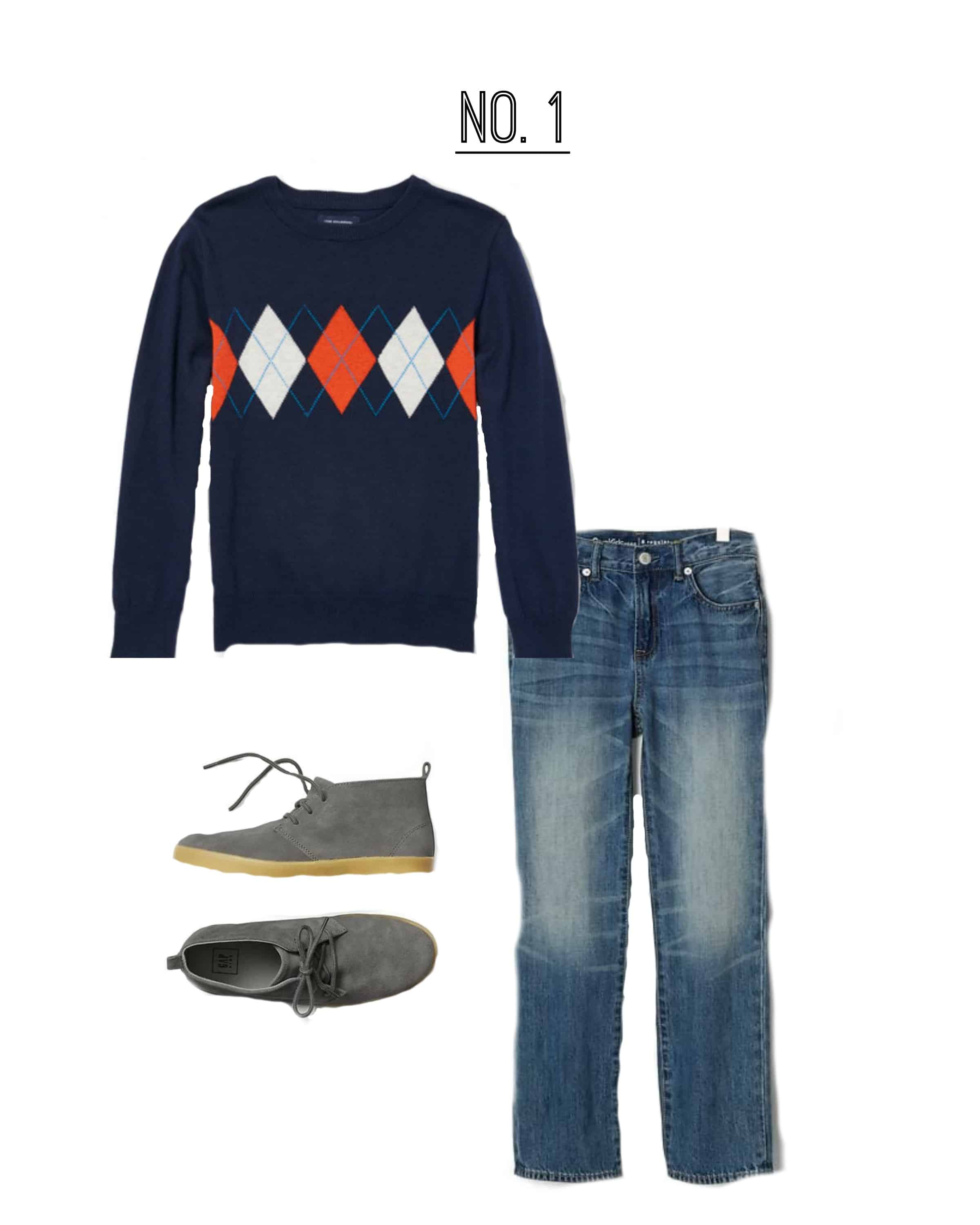 A fantastic outfit for a boy to wear for Fall family photos!