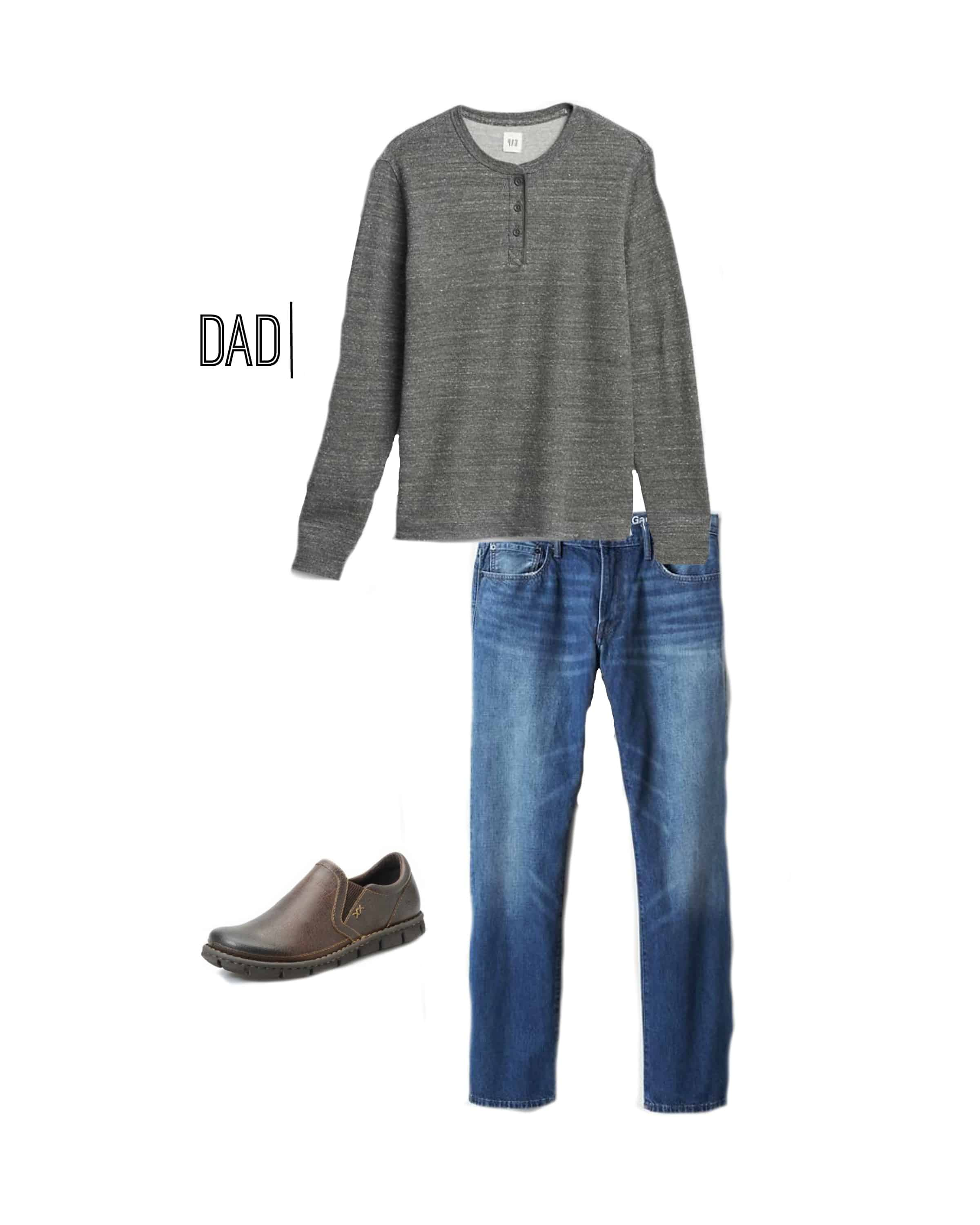 A fantastic outfit for Dad to wear for Fall family photos!