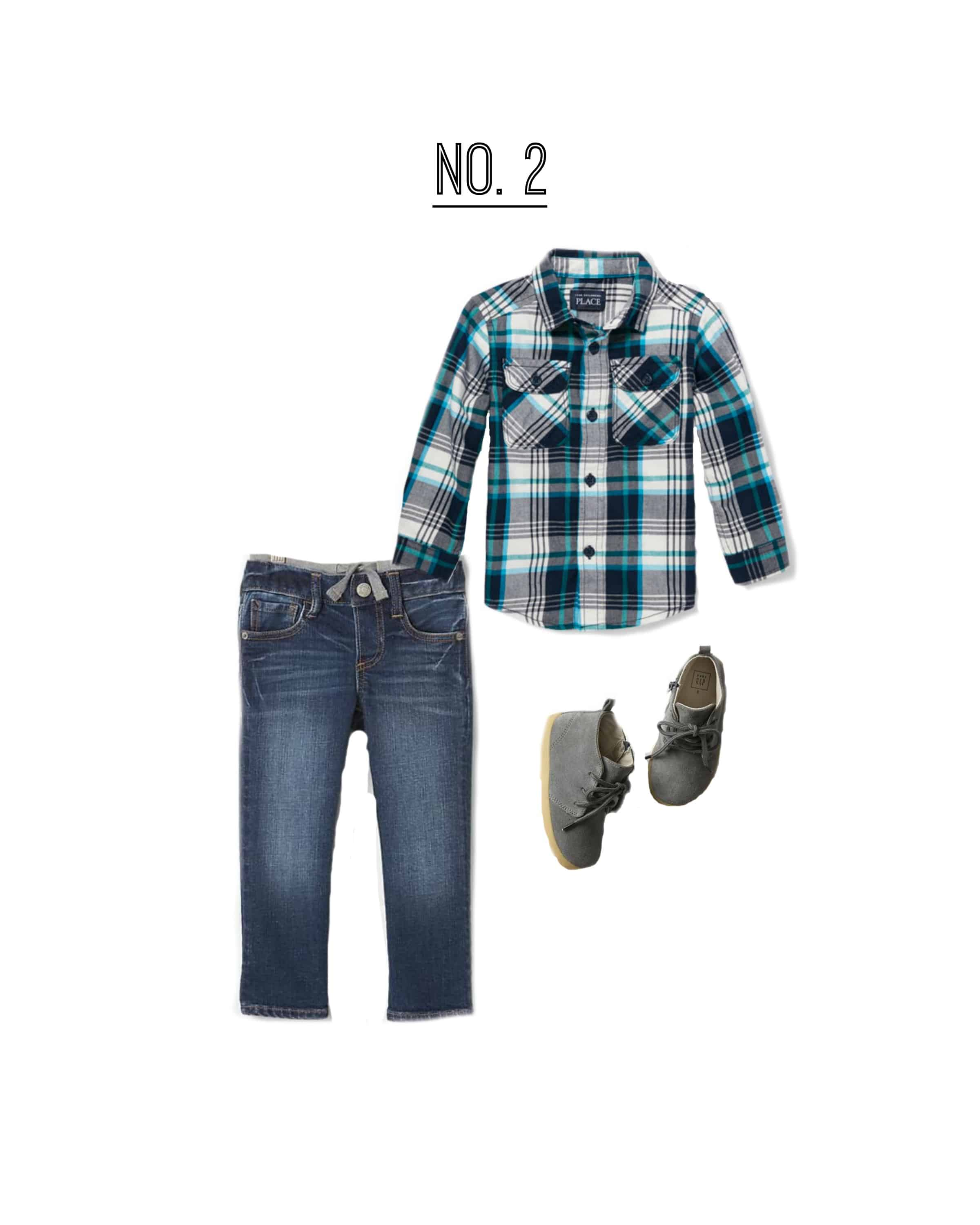 A fantastic outfit for a toodler to wear for Fall family photos!
