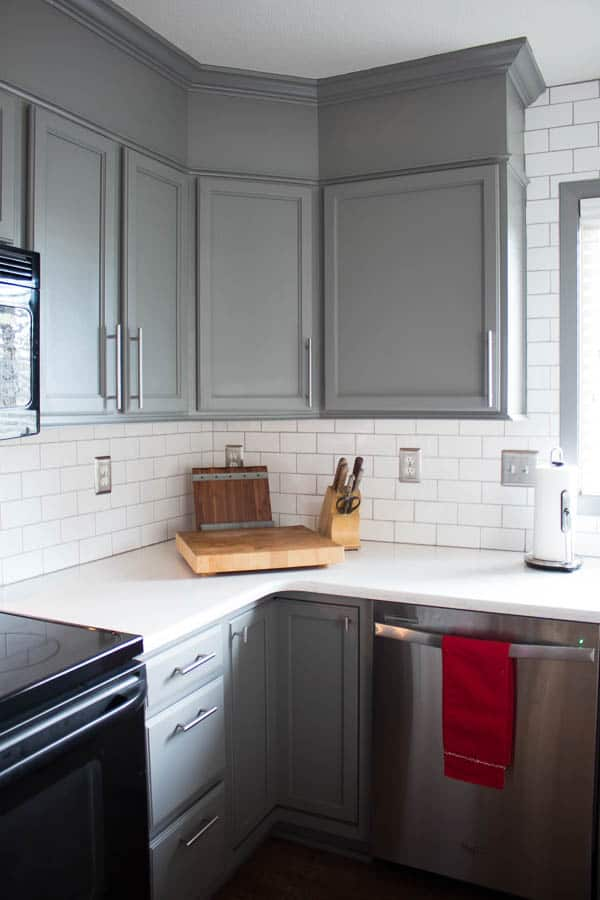 how to easily paint kitchen cabinets - cabinets after painting