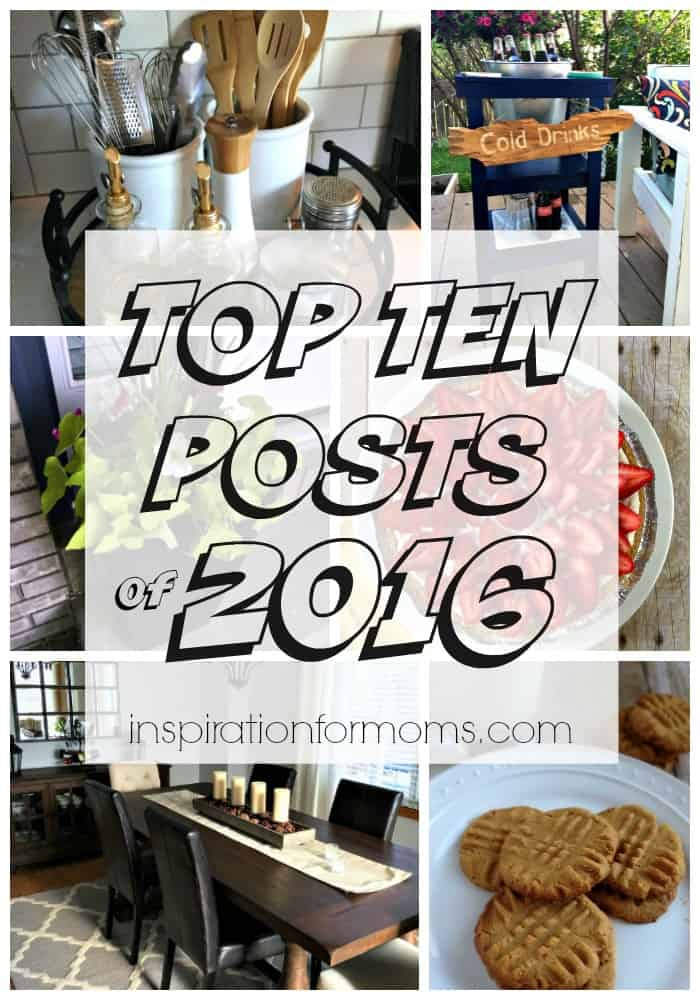 Top Ten Posts of 2016 at Inspiration for Moms