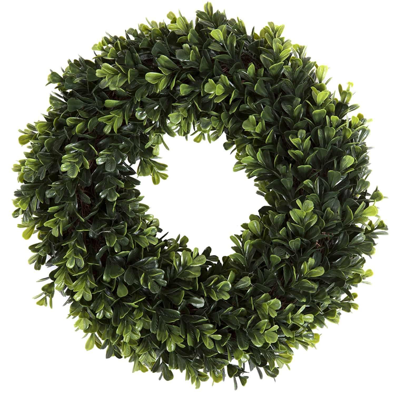 garden boxwood wreath