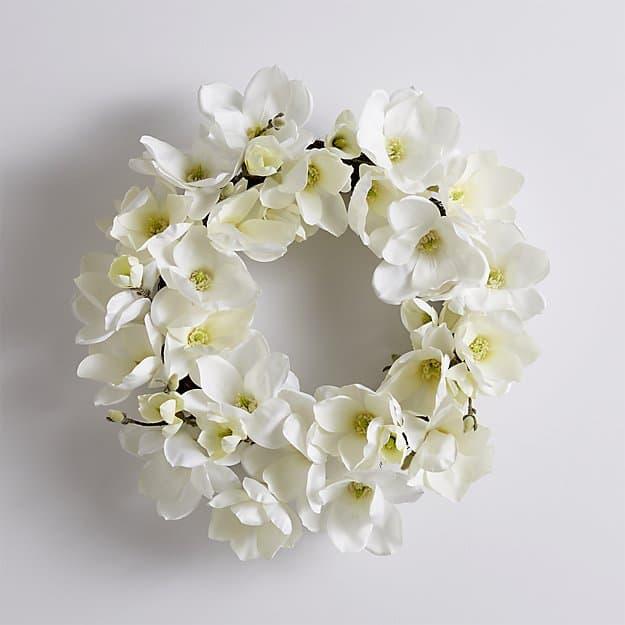 magnolia wreath for spring