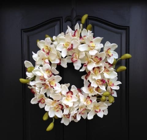 orchid wreath for spring