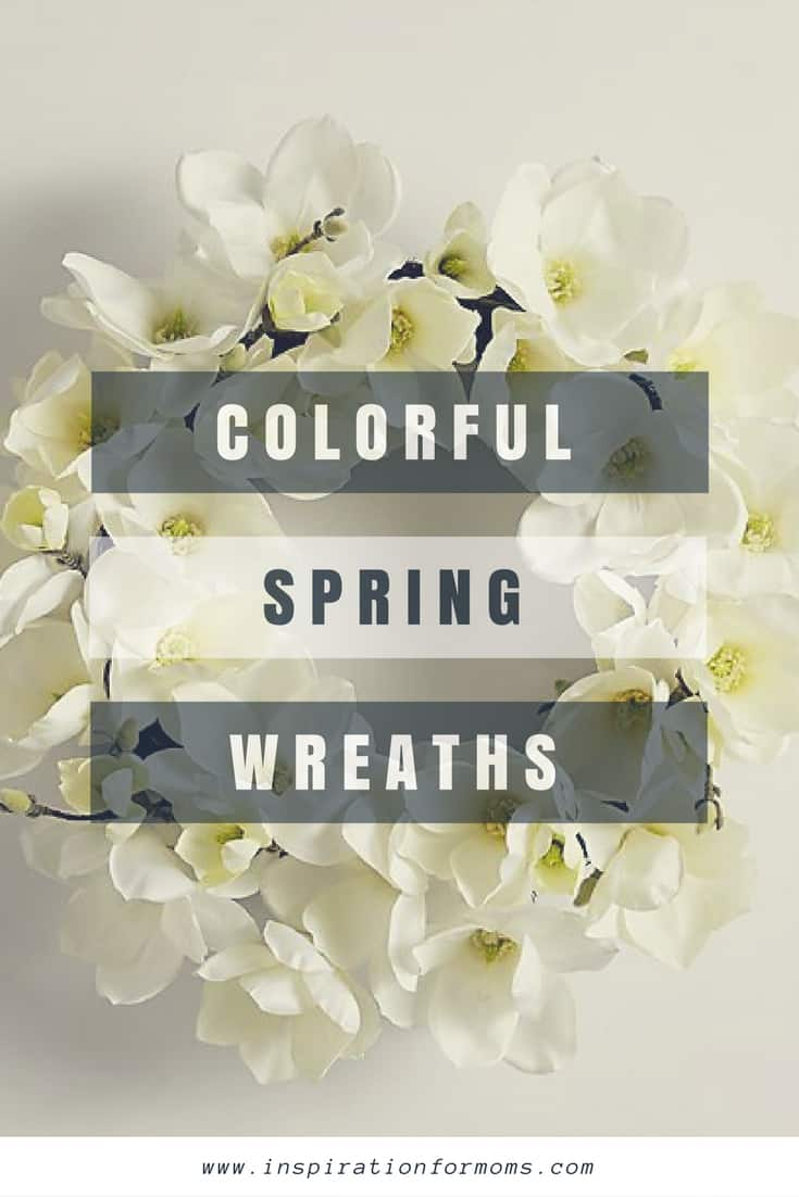 Make Your Door Happy with these Colorful Spring Wreaths