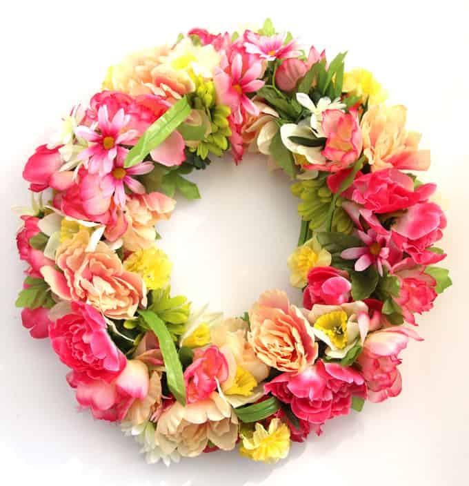 flower spring wreath for front door