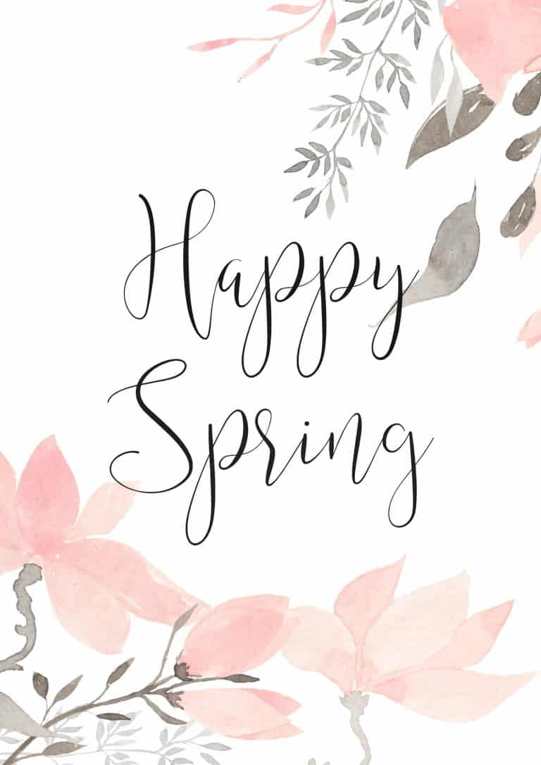 Happy Spring – Let's Celebrate with a Lovely Free Printable