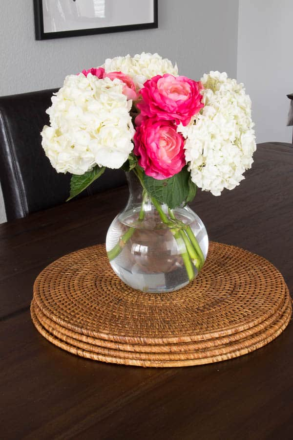 Spring Home Tour - dining room, flowers