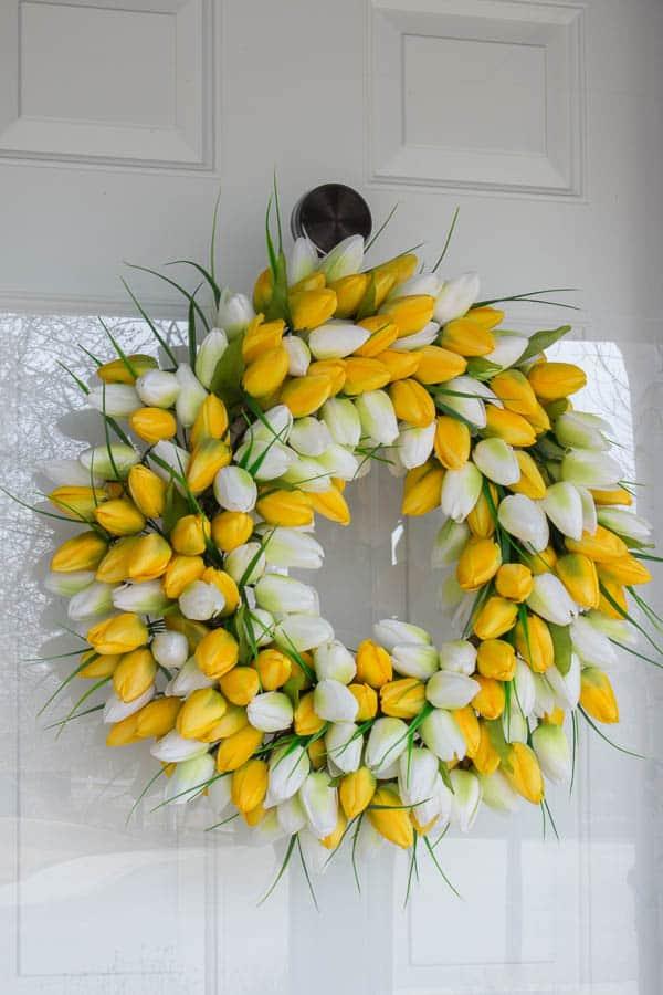 Spring Home Tour - tulip wreath