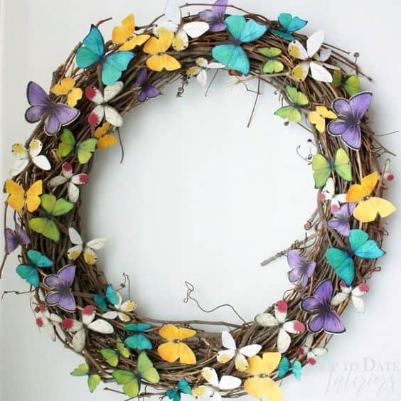 butterfly spring wreath for your front door