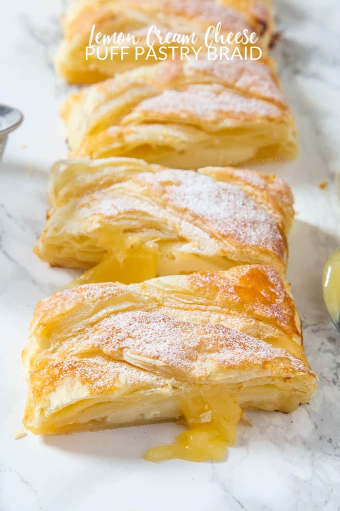 lemon cream cheese puff pastry braid