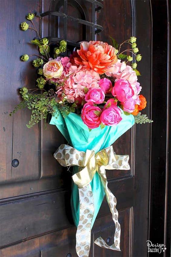 umbrella spring wreath for front door