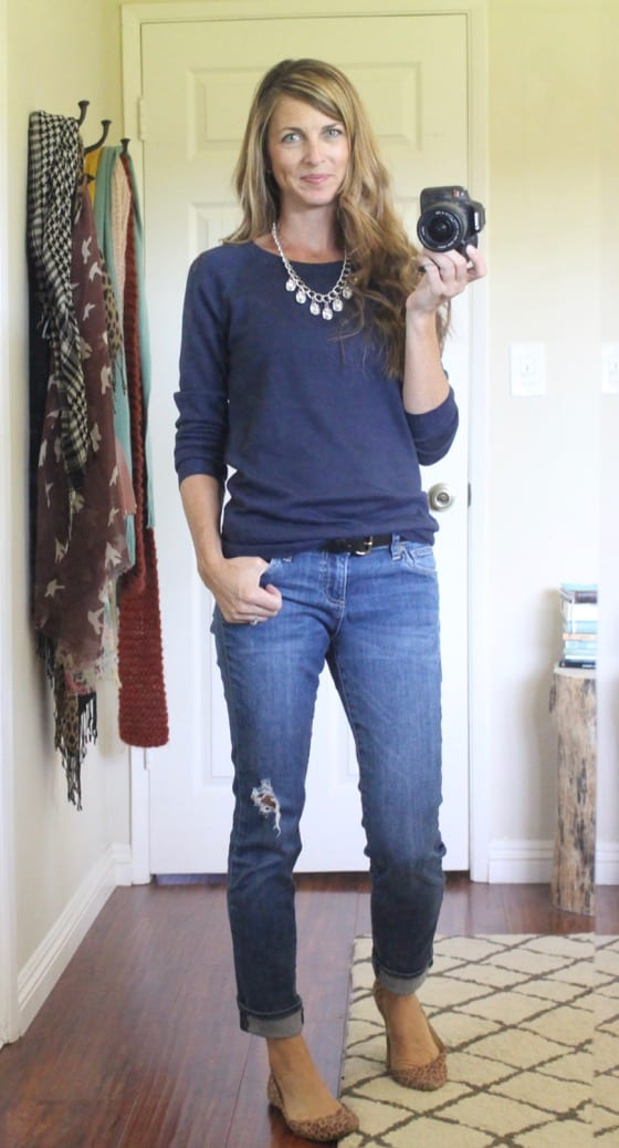 cute simple outfit for transitioning into Spring