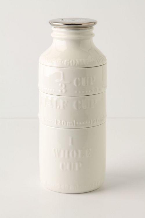 milk bottle measuring cups -- so cute!