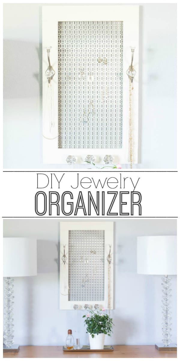 Learn how to make a jewelry organizer that is essential for keeping everything organized beautifully.