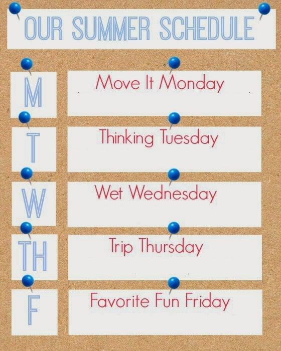Summer Schedule Planner