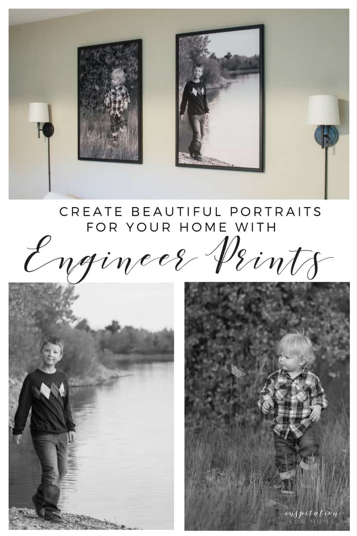 Create beautiful portraits for your home (for cheap) with engineer prints!
