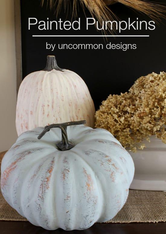 DIY Painted Pumpkins Tutorial
