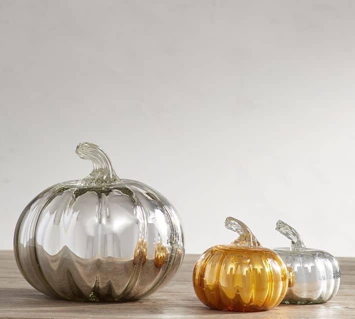 Recycled Glass Mercury Pumpkins-- so pretty!