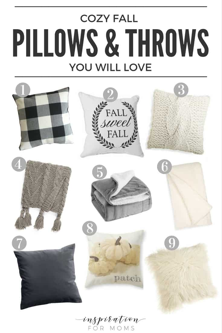 Cozy Fall Pillows and Throws