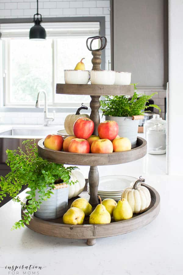 Modern Wood Trays Decorated for Fall