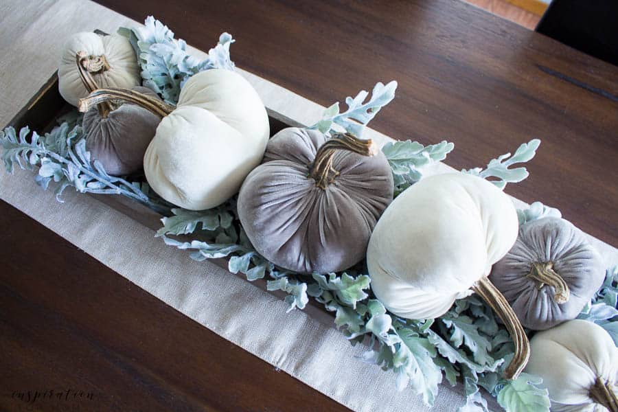 Welcome to my simple, but cozy Fall Home Tour -- dining room, pumpkin centerpiece, fall decor,