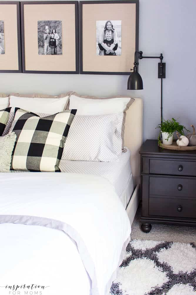Beautiful bedding and a few accessories is all you need to make your bed like a luxury high-end hotel.