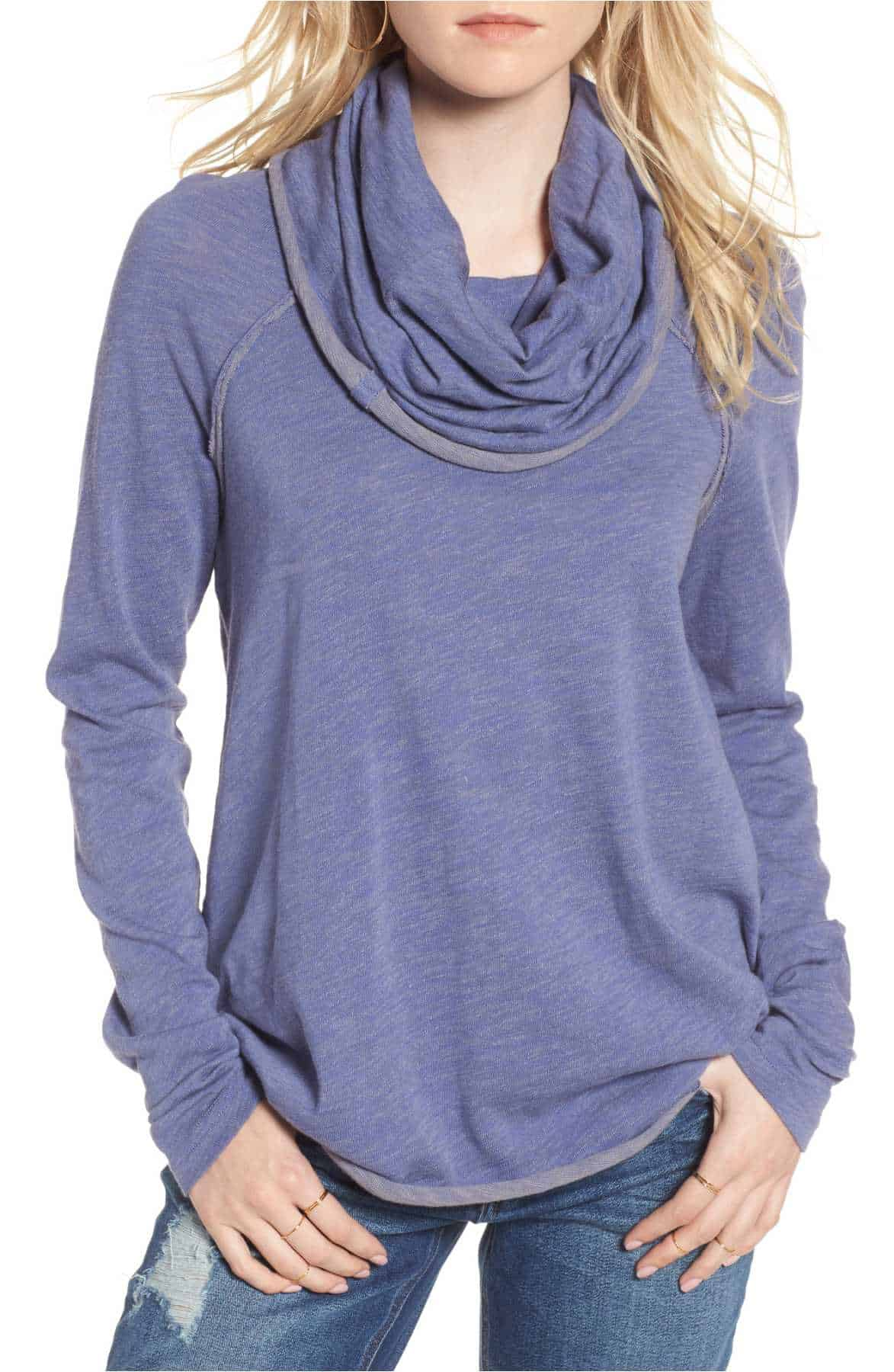 Beach Cocoon Cowl Pullover --- perfect for Fall weather!