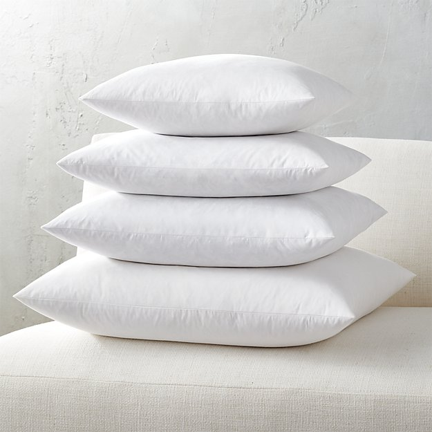Feather down inserts for all your cozy pillow covers at an unbeatable price!