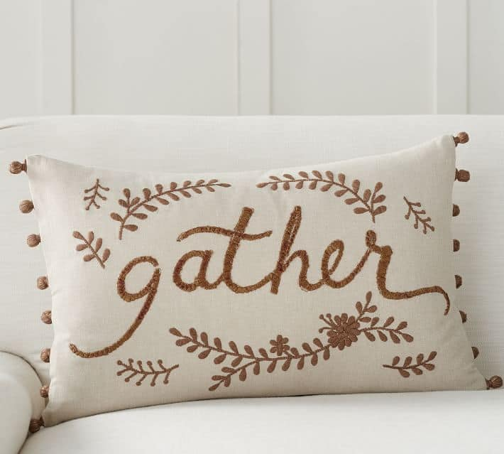 Gather pillow -- lovely Fall decor for the home!