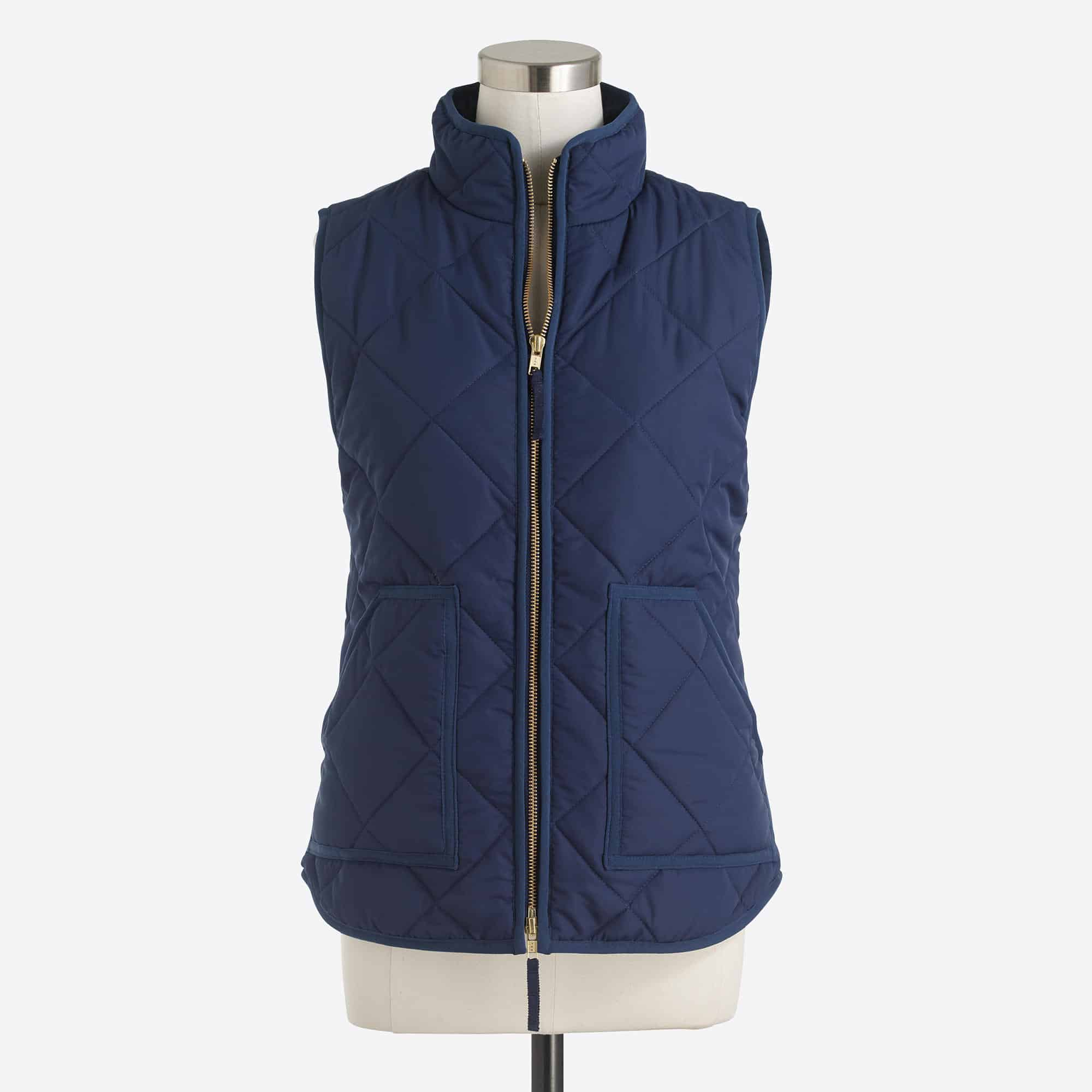 Great navy quilted puffer vest -- perfect for Fall weather!