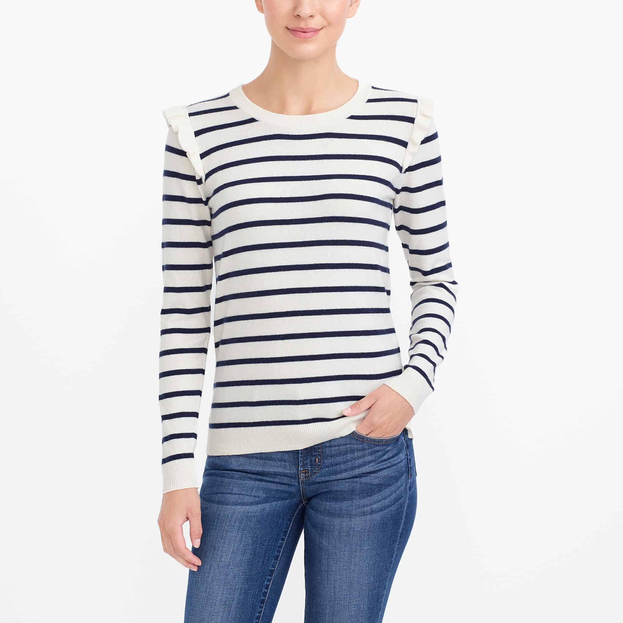 Super cute striped sweater -- perfect for Fall!