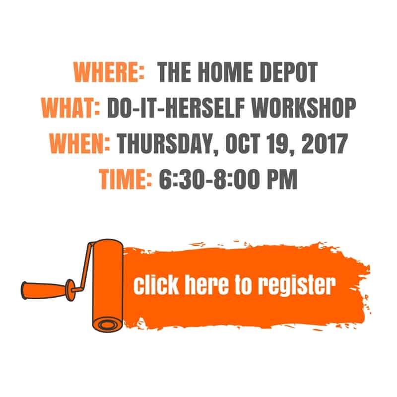 Register for the DIHWorkshop at Home Depot!