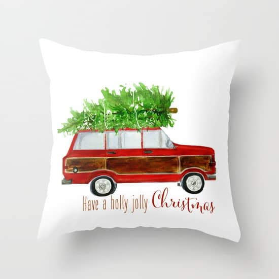 Christmas Wagoneer Pillow -- so cute for Christmas!