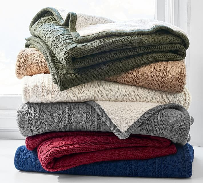 Cozy knit throw...every homes must have! Plus it's on sale!