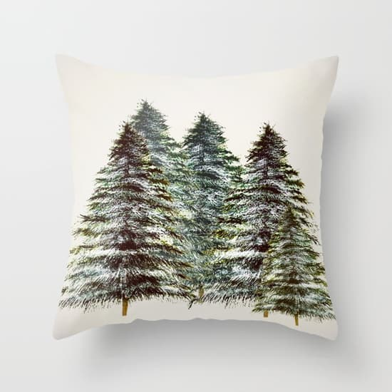 Evergreen tree tapestry pillow is so perfect for the holidays!