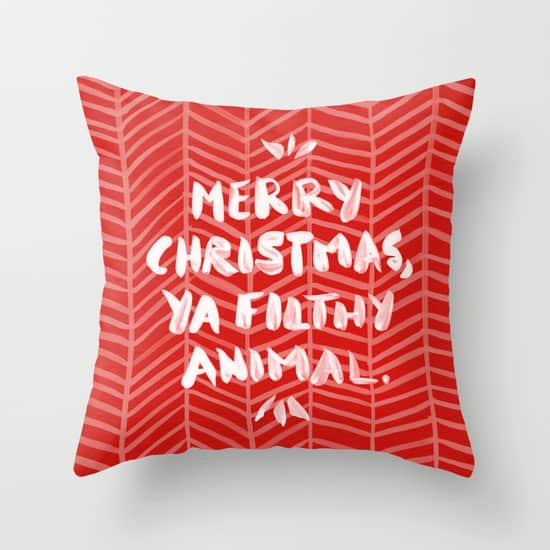 Love the Home Alone movie. So this Merry Christmas, Filthy Animal pillow is just perfect!