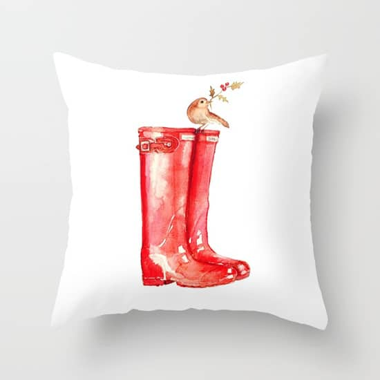 Red Christmas Boot Pillow... so cute for Christmas!