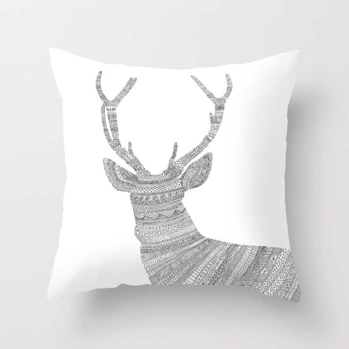 Stag Pillow is great for the rustic holiday look!