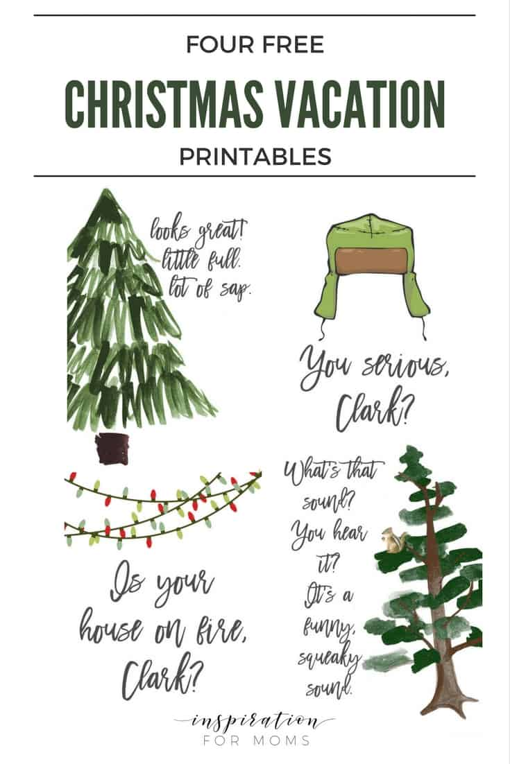 Celebrate Christmas right and grab your free set of four printable quotes from the classic movie, Christmas Vacation!