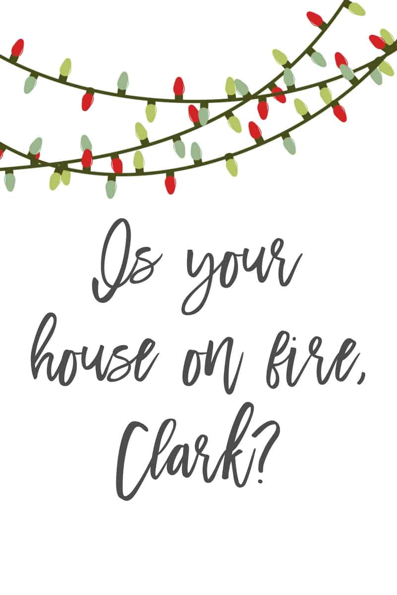 Christmas Vacation Printable, Is Your House on Fire, Clark?