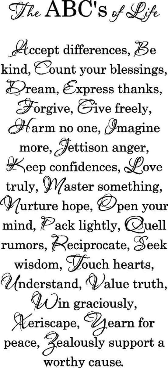 The ABC's of Life
