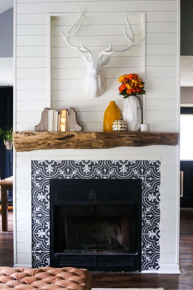 DIY Rustic Wood Mantel